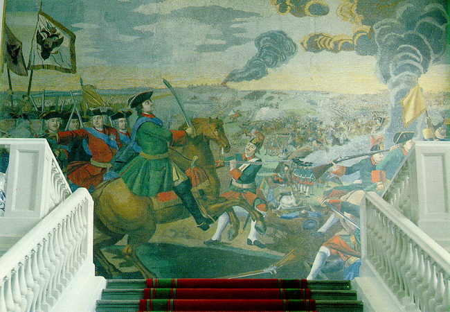 פטר הגדול מנצח את השבדים בקרב פולטבה