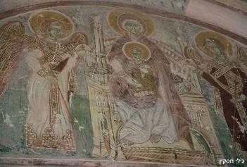 ציורי קיר במנזרי ההר סביב דויד גרשה