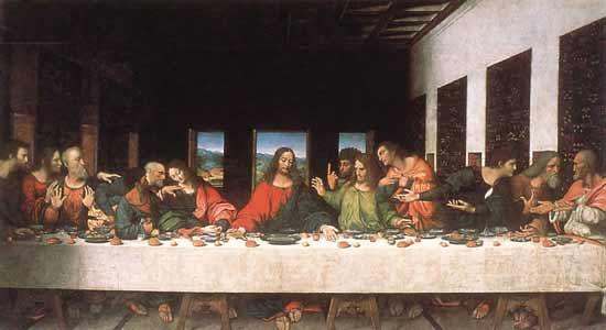 הסעודה האחרונה - לאונרדו דה וינצ'י