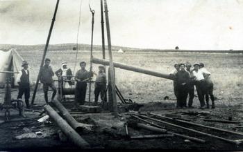 חפירת הבאר במנור