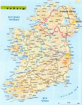 מפת אירלנד