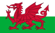 דרקון על דגל וולשי