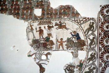 פסיפס רומאי שנמצא בתוניסיה