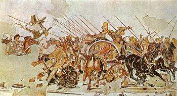 קרב איסוס (פסיפס במוזיאון של נפולי
