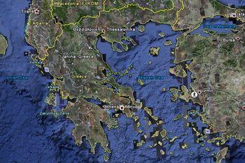 תצלום לוויין - יוון של ימינו
