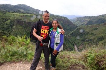 עם המדריכה קולומביה