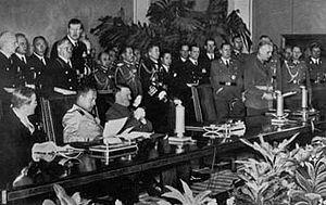 טקס החתימה על האמנה המשולשת