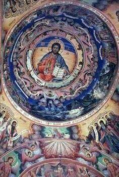 ישו, על כיפת כנסיה בסופיה