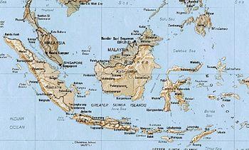 מפת אינדונזיה