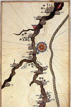 הנילוס הכחול - מפת פירי רייס