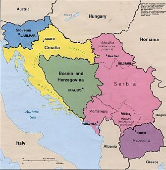 מפת יוגוסלביה