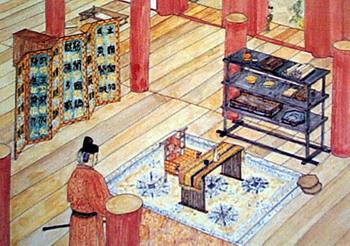 חדרו של אציל בתקופת נארה