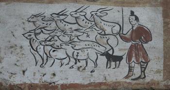ציורי קיר בקבר וויי וג'ין