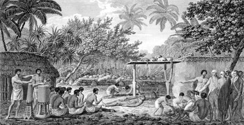 אנשי קוק חוזים בטקס קניבלי