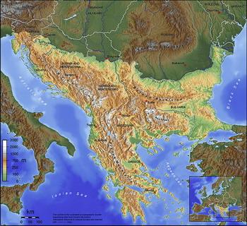 מפת הבלקן