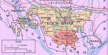 מפת קוץ' ביהאר