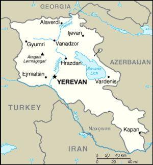 מפת ארמניה