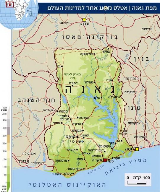 מפת גאנה