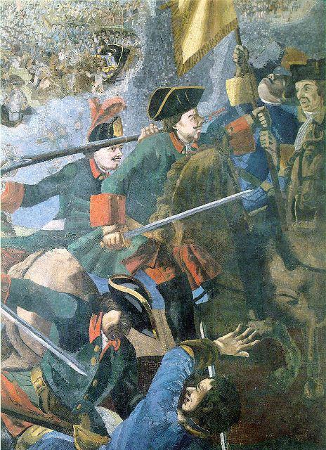 קרב פולטבה, מלחמת הצפון הגדולה- ציור של מיכאיל לומונוסוב