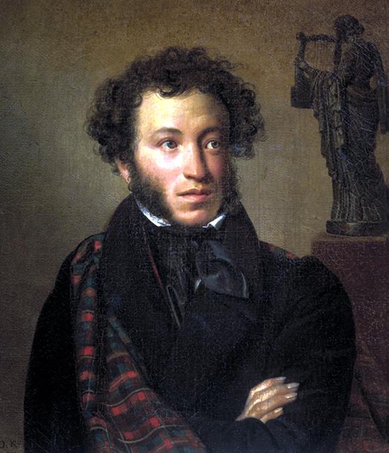 פורטריט של אלכסנדר פושקין. ציור של אורסט קיפרנסקי 1827