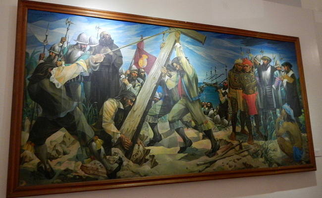 הכיבוש הספרדי. ציור של בוטונג פרנציסקו botong-francisco