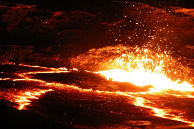 הר הגעש ארטה אלה, במדבר דניקיל. צילום: גילי חסקין