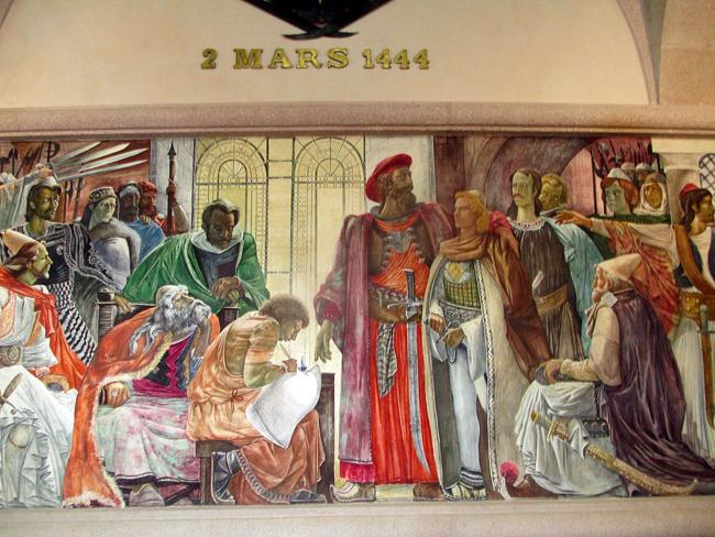 Establishment_of_the_League_of_Lezhë,_Skanderbeg_Museum