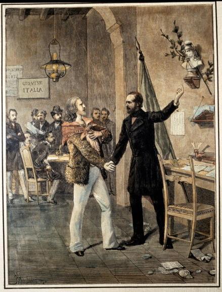 מפגש של גריבלדי עם מציני. 1833.
