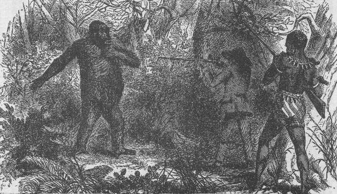French_explorer_Paul_du_Chaillu_at_close_quarters_with_a_gorilla