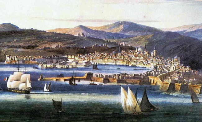 Genova-1810ca-acquatinta-Garneray-part-mura