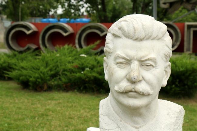 פסל של סטלין-המנצח של מלחמתה עולם השניה. צילום: גילי חסקין; יוני 2016