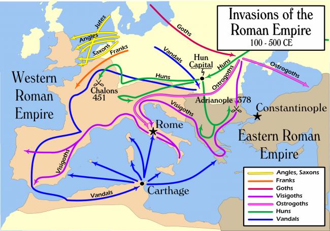 טיול לאיטליה - נדידת העמים