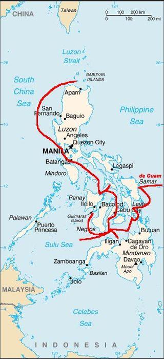 מסעות של לגפאסי. באדיבות Wikipedia