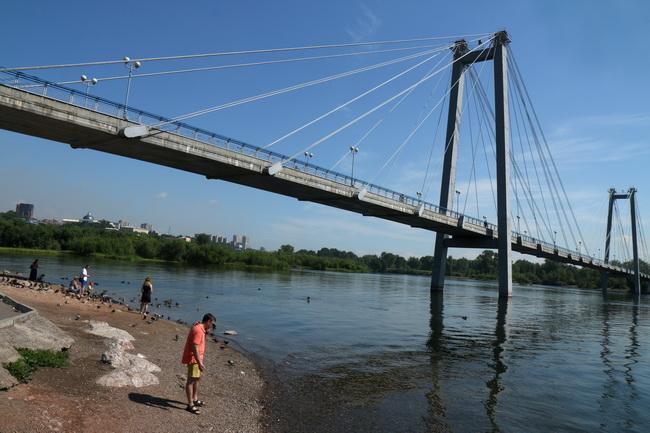 הגשר על נהר יינסי, קרסניארסק. צילום: גילי חסקין