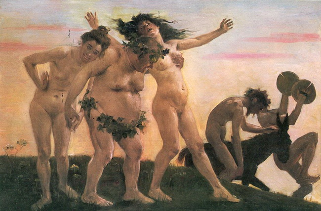 בכחנליה. ציור של לואיס קורינטוס Lovis Corinth, , 1898