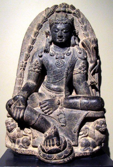 מנג'ושרי, הבודיסטווה של החכמה. פסלון מתקופת שושלת פאלה. המאה ה-9. הודו. באדיבות Wikipedia