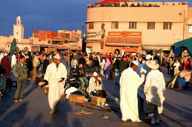 ג'מע אל פנע. הכיכר המרכזית במרוקו, שנבנתה על ידי המוראביטון. צילום: גילי חסקין
