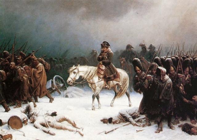 נסיגתו של נפוליאון ממוסקבה, ציור של אדולף נורת'ן