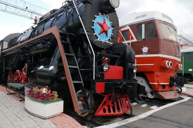 קטר קיטור ישן, במוזיאון הרכבות בנובוסיבירסק. צילם: גילי חסקין