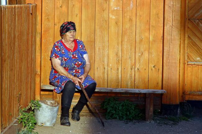 איכרה רוסיה באי אולחון, בייקל, סיביר. צילם: גילי חסקין