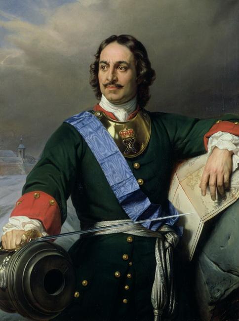 פיוטר הגדול, ציור מ 1838. מוצג בהרמיטאז'. באדיבות wikipedia