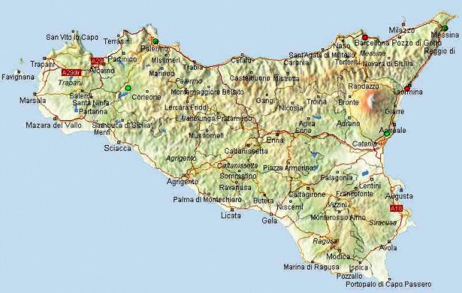מפת סיציליה