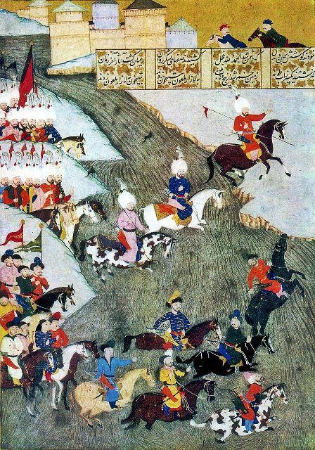 מניאטורה פרסית המתארת את הקרב על Szigetvár