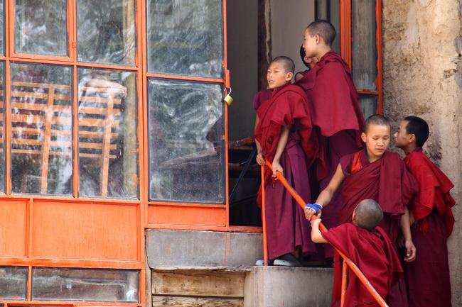 נזירים בבהוטן. צילום: גילי חסקין