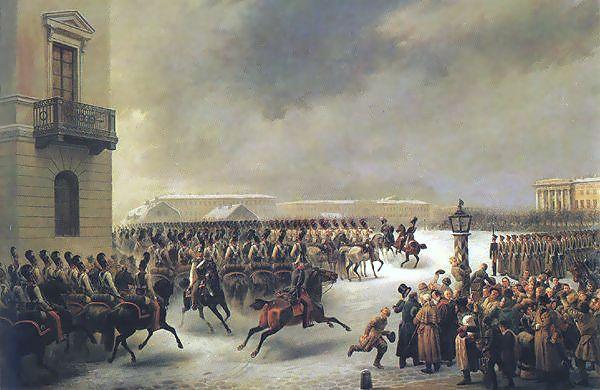 מרד הדקבריסטים-ציור מאת וסילי פיודורוביץ' טים (Тимм)
