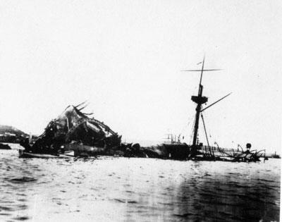 האניה האמריקאית שטבעה והיתה העילה למלחמה