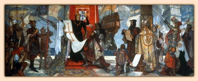וסקו דה גאמה עוזב את חופי פורטוגל, בדרכו להודו