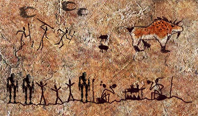 ציורי מערותמהתקופה הפליאותיתית העליונה. באדיבות ויקיפדיה