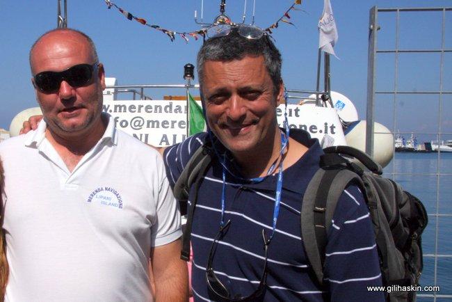 גילי עם חבר סיציליאני. יוני 2008