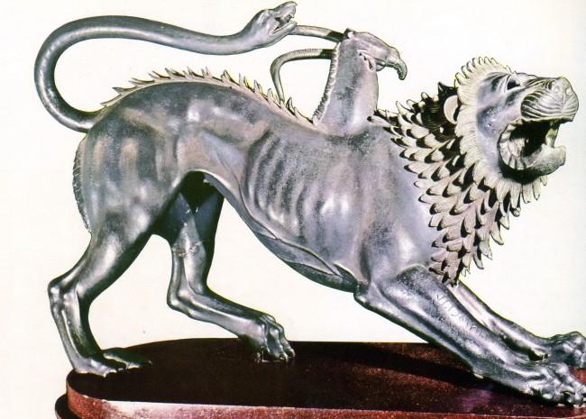 טיול לאטרוריה - פסלון הכימירה